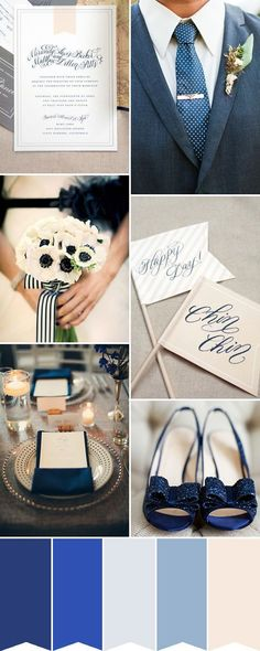 navy inspiration - Read More on One Fab Day http://onefabday.com/classic-pretty-navy-blue-wedding-inspiration/ (Best Wedding and Engagement rings at http://www.brilliance.com)