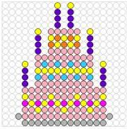 Deze kralenplank en vele andere in het thema eten en drinken kun je vinden op de website van Juf Milou. Hama Beads Patterns, Beading Patterns, Create And Craft, Perler Beads, Restaurant, Pixel Art, Activities For Kids, Cross Stitch, Crafts