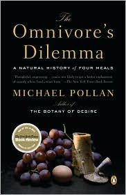 The Omnivore's Dilemma by Michael Pollan. Interesting, readable food+politics mixture. I dig.