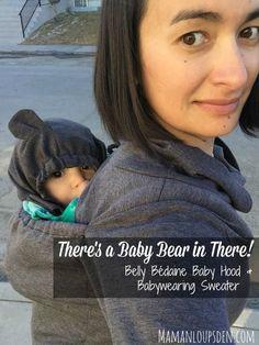 199de02455d Belly Bedaine Baby Hood and Babywearing Sweater Pul De Maternité