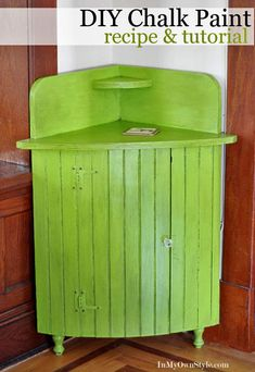 """To me the point of chalk paint is that it's earth friendly. This recipe doesn't sound particularly earth friendly and the article doesn't address eco issues, but is still an interesting tutorial. """"Chalk paint and glaze truly brings out the character in a piece of painted furniture."""" ~ET"""