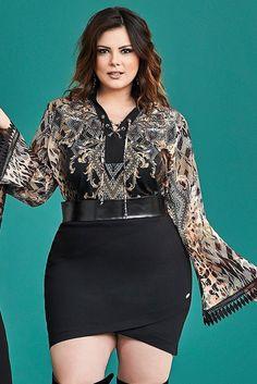 Blusa Plus Size Madelaine  - Outono/Inverno 2017 - Confira em www.daluzplussize.com.br