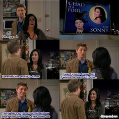 Disney Channel Sonny With A Chance. Sonny Munroe and Chad Dylan Cooper. Demi Lovato and Sterling Knight ♡ love is on the billboard