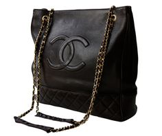 CHANEL Authentic Large Chocolate Brown Tote by Ninapollivintage, £1350.00