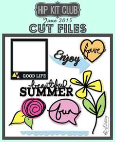 @HipKitClub @KimWatson #FREE #cutfiles #SVG #silhouette Paper Cutting, Cut Paper, Hip Kit Club, Silhouette Files, Silhouette Projects, Filing, Cutting Files, Printables, Summer