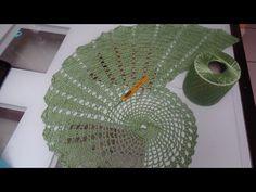 Trilho espiral em crochê - YouTube