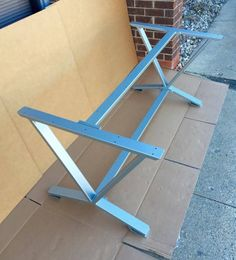 V-Shaped Dining Table Base, Industrial Base, Set of 2 Legs and 2 Cross Braces. This steel table base will not ship assembled! The cross bars will be bolted! We are making the holes and will provide the screws! Assembly is required from You! Very easy, Wrench 7/16 and 10 minutes of