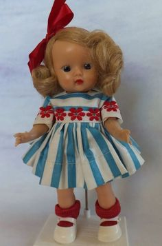 She is marked Storybook Dolls California on her back and is a straight leg, strung Muffie. She has no splits, cracks or marks on her. Her arm hold a pose nicely and her legs are still strung tightly. | eBay!