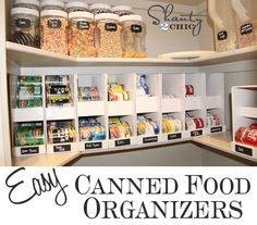 Is your canned food stash bonkers like mine WAS?? I created a cheap and easy solution! These are about $5 to build and rotate your oldest cans out first... LOVE! Come check it out! ;-) ~Whitney http://www.shanty-2-chic.com/2012/10/pantry-ideas-diy-canned-food-storage.html
