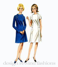 1960s MOD Aline Day DRESS StandAway by DesignRewindFashions, $12.00