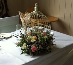 Chloe's top table bird cages.