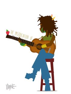 The Miseducation of Lauryn Hill by Xavier Payne. Black Girl Art, Black Women Art, 90s Pop Culture, Hip Hop Art, Black Artwork, Wow Art, Afro Art, African American Art, Art Graphique