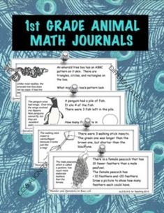 1st Grade Common Core Animal Math Journals for the Whole Y