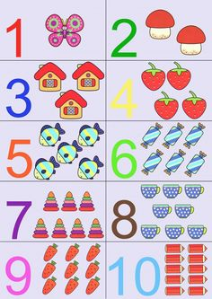 Kindergarten Literacy Centers - Beginning Sounds, CVC and Letters Numbers For Kids, Numbers Preschool, Learning Numbers, Preschool Printables, Preschool Worksheets, Preschool Learning, Teaching Kids, Early Learning Activities, Preschool Activities