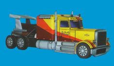 Peterbilt Shockwave Jet Truck Free Vehicle Paper Model Download - http://www.papercraftsquare.com/peterbilt-shockwave-jet-truck-free-vehicle-paper-model-download.html#143, #Shockwave, #Truck, #VehiclePaperModel
