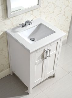 Legion Furniture 24-inch Silver Grey Single Sink vanity with ...