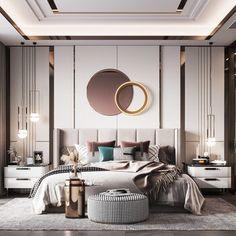 Modern Luxury Bedroom, Master Bedroom Interior, Luxury Bedroom Design, Bedroom Bed Design, Luxury Rooms, Bedroom Furniture Design, Home Room Design, Modern Room, Luxurious Bedrooms