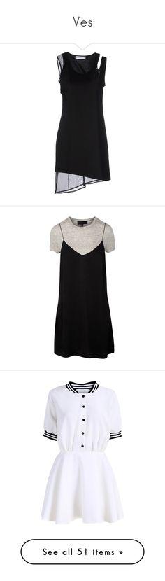 """Ves"" by yaseumin ❤ liked on Polyvore featuring dresses, black, slip dress, short dresses, jersey dress, pocket dresses, mini tube dress, vestidos, satin dress and mock neck dress"