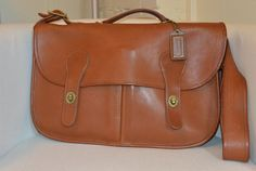 Vintage Coach NYC Carrier in British Tan by TheAdventurersLegacy