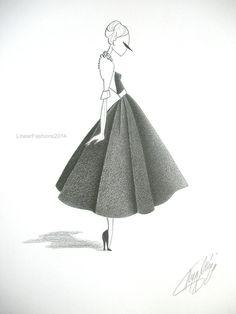 Fashion illustration by LinearFashions.