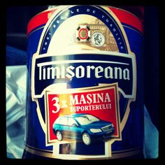 Getting ready for a Romanian night: Timisoreana beer!