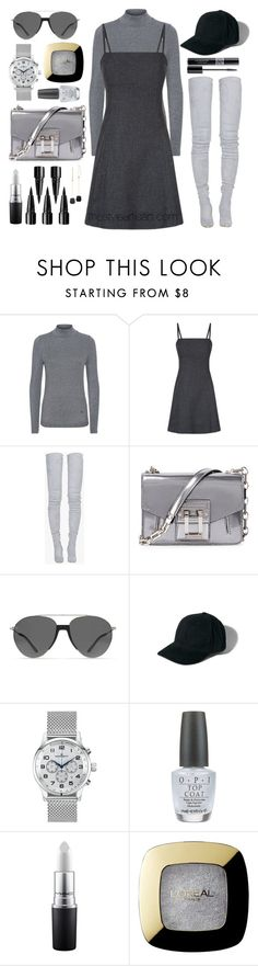 """Claudie Pierlot Refresh Houndstooth Dress"" by thestyleartisan ❤ liked on Polyvore featuring Claudie Pierlot, Balmain, Proenza Schouler, Smoke x Mirrors, Abercrombie & Fitch, Kennett, Christian Dior, OPI, MAC Cosmetics and L'Oréal Paris"