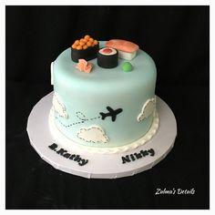 Sushi Cake, Custom Cakes, Desserts, Food, Personalized Cakes, Tailgate Desserts, Deserts, Personalised Cake Toppers, Essen