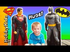 Giant BATMAN + SUPERMAN Action Figures! Dawn of Justice + Surprise Toys ... Superman Action Figure, Action Figures, Superhero Shows, Dawn Of Justice, Batman And Superman, New Shows, Battle, Gaming, Amazon