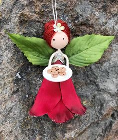 Your place to buy and sell all things handmade Excited to share the latest addition to my shop: Handmade Fairy Doll Ornament, Flower Fairy Doll, Christmas Fairy Angel Ornament, Fairy with Chocolate Chip Cookie, Small Fairy Doll Fairy Crafts, Angel Crafts, Doll Crafts, Peg Doll, Felt Dolls, Christmas Fairy, Christmas Ornaments, Kindergarten Christmas Crafts, Clothespin Dolls