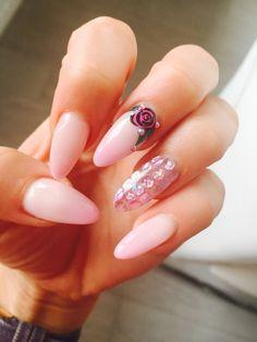 "Nails art ""pink rose"""