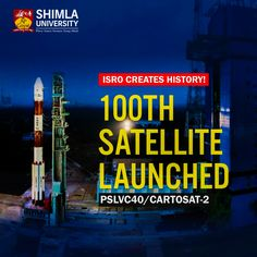 Congratulation to ISRO for the successful launch of 100th Satellite PSLV.  Proud to be Indian.