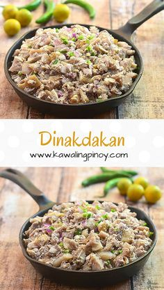 Dinakdakan is an Ilocano delicacy made with grilled pork parts tossed in a calamansi dressing with onions and chili peppers