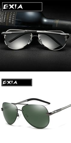c8eafe666a3 Green Sunglasses Polarized Lenses for Men Drivers  Best Eyewear Choice EXIA  OPTICAL KD-0761