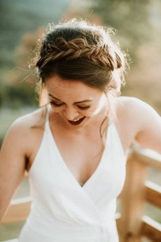 Effortless braided updo PHOTO BY EILEEN MENY PHOTOGRAPHY