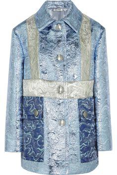 MIU MIU Metallic Jacquard Jacket. #miumiu #cloth #jacket