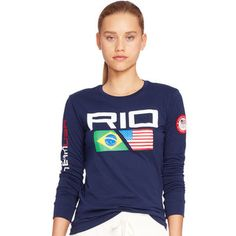 Something for the fans -- Polo Ralph Lauren Team USA Women's Navy 2016 Olympics Rio Long Sleeve T-Shirt