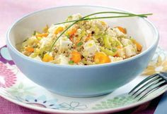 Quinoa et tofu Couscous Rice, Stir Fry Recipes, Potato Salad, Vegetarian Recipes, Paleo, Favorite Recipes, Lunch, Diet, Meals
