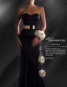 The Sasha Cuff in Ice with Bridal White Garden Roses. Desi Wedding, Wedding Wishes, Wedding Wear, Wedding Stuff, Our Wedding, Bridesmaid Bouquet, Wedding Bouquets, Bridesmaids, Wedding Dresses