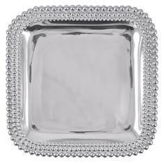Triple Pearls Square Platter