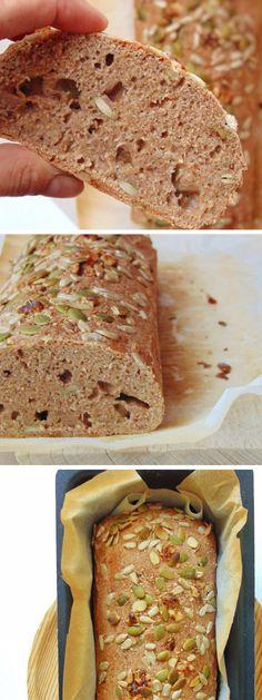 Receta fácil para hacer pan saludable de espelta