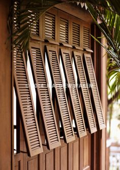 An exterior shot of French-style shutters at La Residence d& Siem Reap, Cambodia. The resort& architecture is a fusion of French colonial and classic Khmer design. British Colonial Decor, French Colonial, Exterior Colonial, Exterior Design, Bungalow Exterior, Tropical Architecture, Architecture Design, Colonial Architecture, Garden Architecture