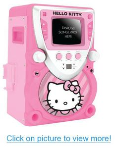 Hello Kitty 68109 CD Karaoke System with Screen, Pink/White #Hello #Kitty #CD #Karaoke #System #Screen #Pink_White