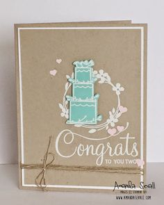 Amanda Sevall Designs: 365 Cards: Congrats to You Two #WWYS13