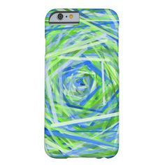 Green & Blue Swirling Lines Pattern