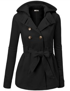 9XIS Women's 3 Toggle Hooded Coat with Pockets- very sexy and makes you feel warm