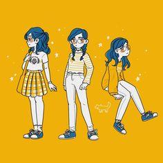yellow there, im feelin blue today . i know it's orange-. yellow there, im feelin blue today . i know it's orange-ish shut up Cartoon Kunst, Cartoon Art, Cartoon Design, Arte Sketchbook, Cute Art Styles, Cute Characters, Fictional Characters, Pretty Art, Character Design Inspiration