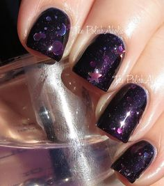 Edge of the Cosmos swatched by The PolishAholic http://www.thepolishaholic.com/2013/11/femme-fatale-swatches.html