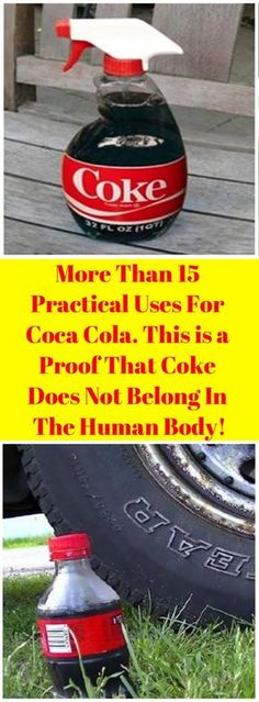 More Than 15 Practical Uses For Coca Cola. This is a Proof That Coke Does Not Belong In The Human Body! Coca Cola is definitely the most popular drink all around the world. Car Cleaning, Spring Cleaning, Cleaning Hacks, Kitchen Cleaning, Hacks Diy, Coca Cola, Coke, Professional Cleaning, Cleaners Homemade