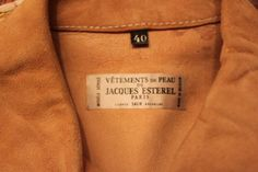 Vintage 70's: Jacques EsterelLeather jacket von treasuresmakeshappy