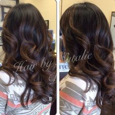 Brunette and Caramel face framing Balayage highlights over long layered curly hair would love a ombre on the ends but this color is perfect! Description from pinterest.com. I searched for this on bing.com/images